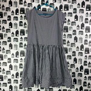 Madewell | Sleeveless Checkered Midi Dress